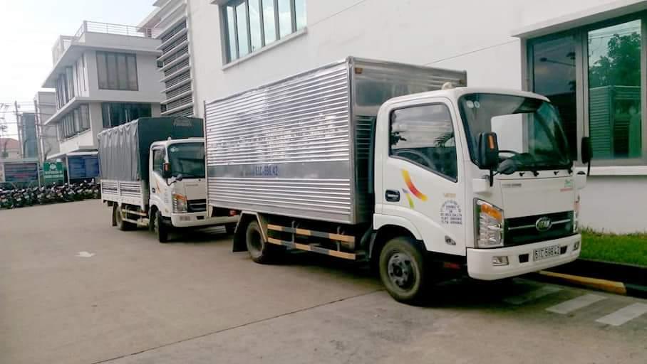 xe tải chở hàng 2 tấn thùng dài 4m3 ngang 2m